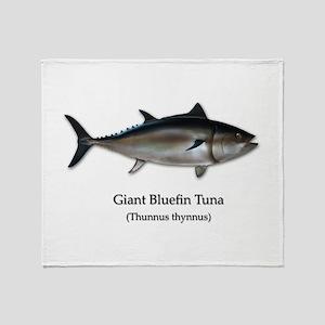 Bluefin Tuna Throw Blanket