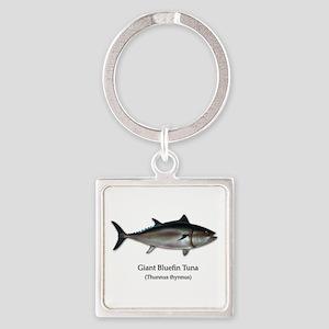 Bluefin Tuna Square Keychain