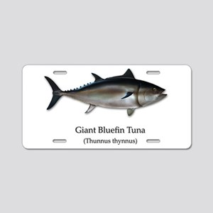 Bluefin Tuna Aluminum License Plate