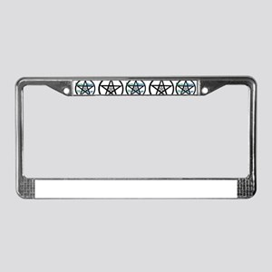 Green Harm None Many License Plate Frame