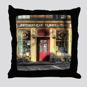 Old Fashioned store Throw Pillow