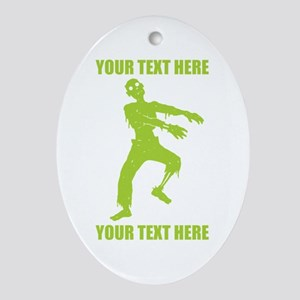 Personalized Zombie Ornament (Oval)