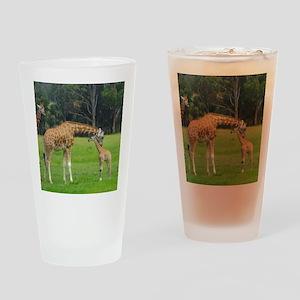 Baby Giraffe Drinking Glass