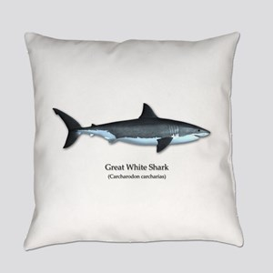 Great White Shark Everyday Pillow