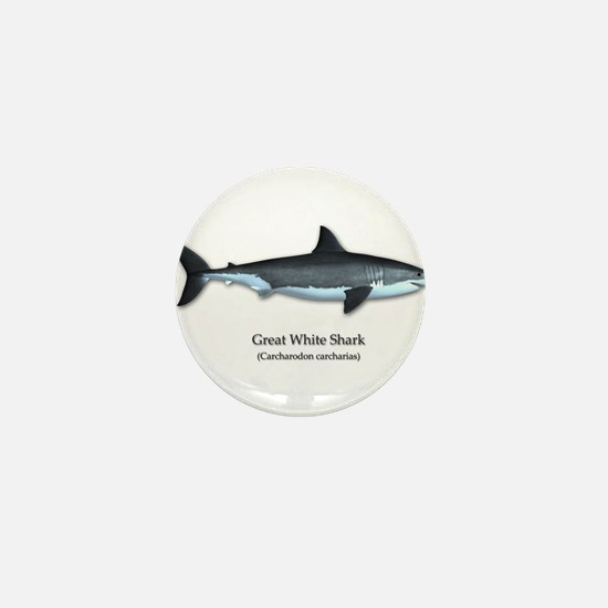Great White Shark Mini Button