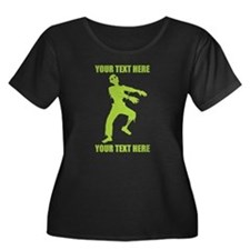 PERSONALIZED Zombie Plus Size T-Shirt