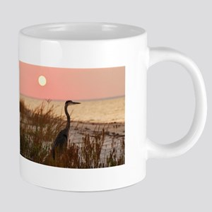 Heron at Sunset Stainless Steel Travel Mugs