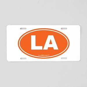 Louisiana LA Euro Oval ORAN Aluminum License Plate