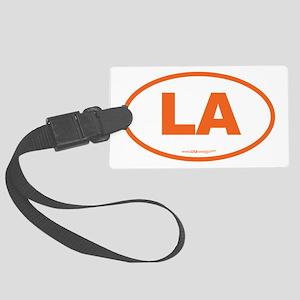 Louisiana LA Euro Oval ORANGE Large Luggage Tag