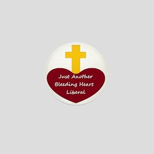 Bleeding Heart Liberal Mini Button