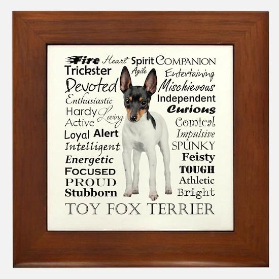 Toy Fox Terrier Traits Framed Tile