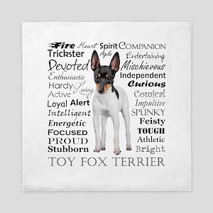 Toy Fox Terrier Traits Queen Duvet