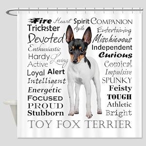 Toy Fox Terrier Traits Shower Curtain
