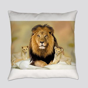 Father Lions & Cubs Everyday Pillow