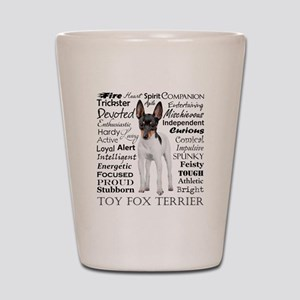 Toy Fox Terrier Traits Shot Glass