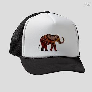 5208c71aabcc3 Yellow   Orange Metallic Elephant Kids Trucker hat