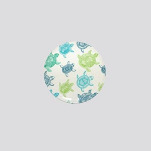 Blue and Green Turtles Mini Button