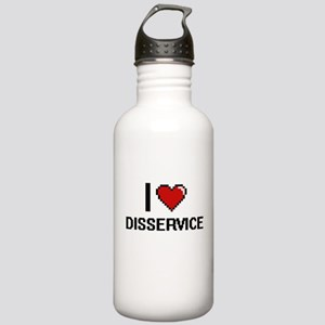 I love Disservice Stainless Water Bottle 1.0L
