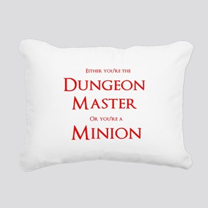 Dungeon Master or Minion Rectangular Canvas Pillow