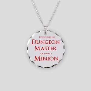 Dungeon Master or Minion Necklace Circle Charm