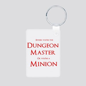 Dungeon Master or Minion Aluminum Photo Keychain