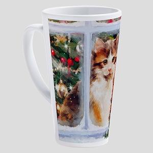 Christmas Kitten 17 oz Latte Mug