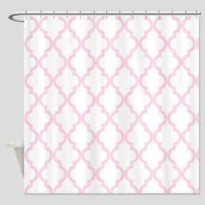 Pink, Baby: Quatrefoil Moroccan Pat Shower Curtain