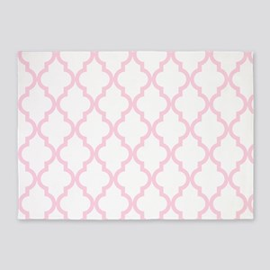 Pink, Baby: Quatrefoil Moroccan Pat 5'x7'Area Rug