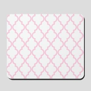Pink, Baby: Quatrefoil Moroccan Pattern Mousepad