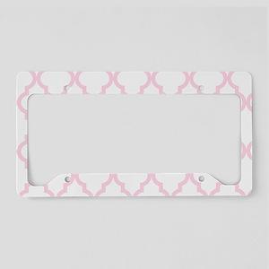 Pink, Baby: Quatrefoil Morocc License Plate Holder