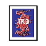 TKD Dragon Framed Panel Print