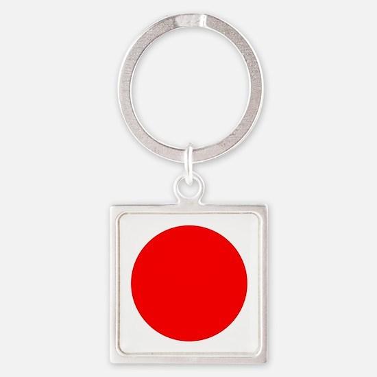 Square Japanese Flag Keychains