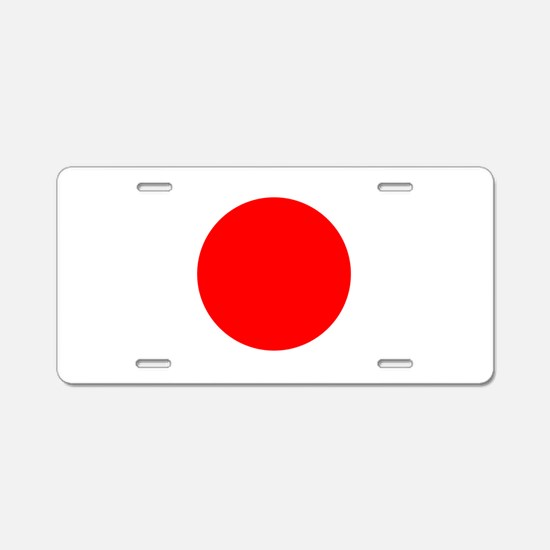 Square Japanese Flag Aluminum License Plate
