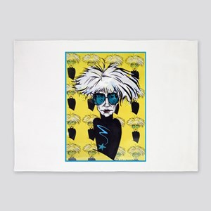 Warhol, pop tribute art 5'x7'Area Rug