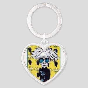 Warhol, pop tribute art Keychains
