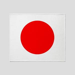 Square Japanese Flag Throw Blanket