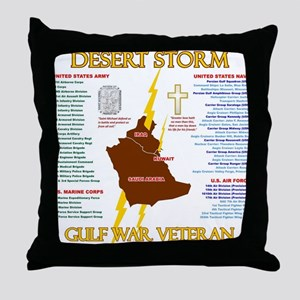 operation desert storm gulf war veter Throw Pillow