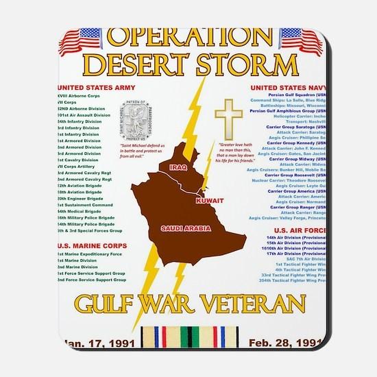 operation desert storm gulf war veteran Mousepad