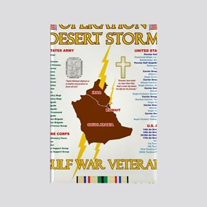 operation desert storm gulf war v Rectangle Magnet