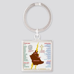 operation desert storm gulf war ve Square Keychain