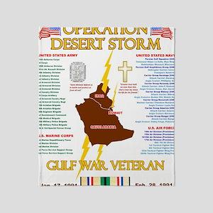 operation desert storm gulf war vete Throw Blanket