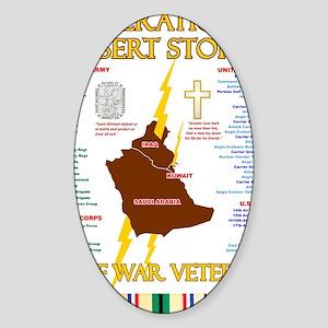 operation desert storm gulf war vet Sticker (Oval)