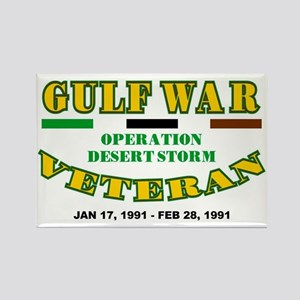 GULF WAR VETERAN OPERATION DESERT Rectangle Magnet