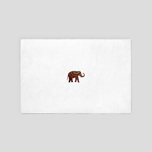 Yellow & Orange Metallic Elephant 4' x 6' Rug