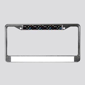 black gossip rag logo License Plate Frame