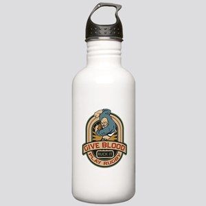Give Blood Play Rugby Stainless Water Bottle 1.0L