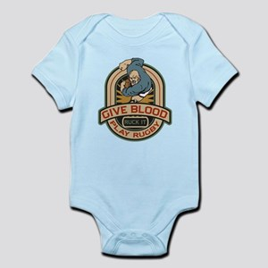 Give Blood Play Rugby Infant Bodysuit