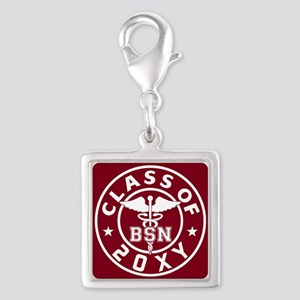 Class of 20?? Nursing Silver Square Charm