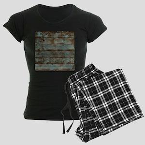 rustic western turquoise bar Women's Dark Pajamas