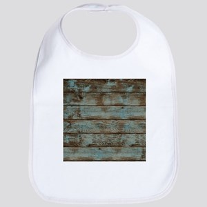 rustic western turquoise barn wood Bib